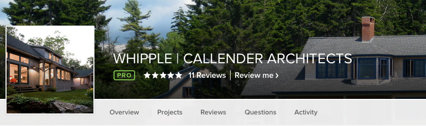 Houzz, Whipple | Callender Architects, architecture, homepage