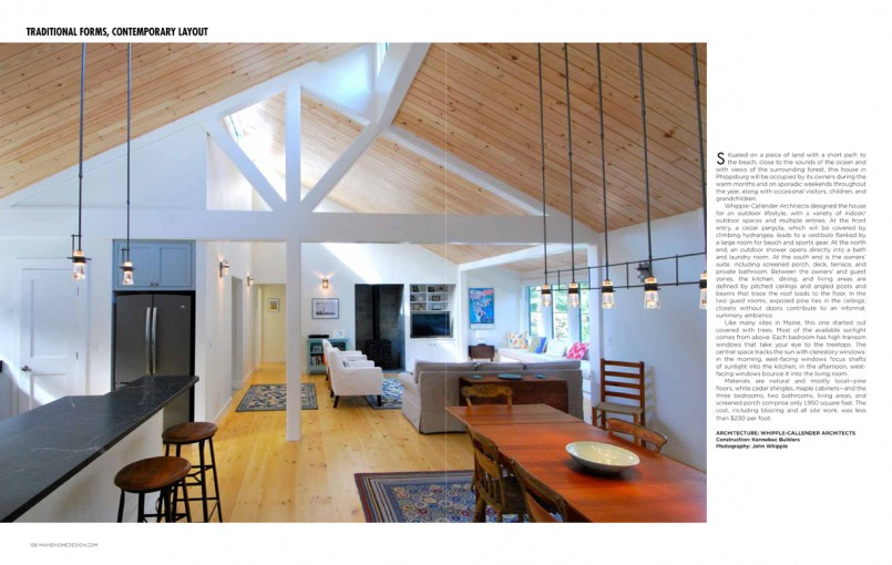 Our feature in maine home design 39 s 2014 architecture for Architectural design issues